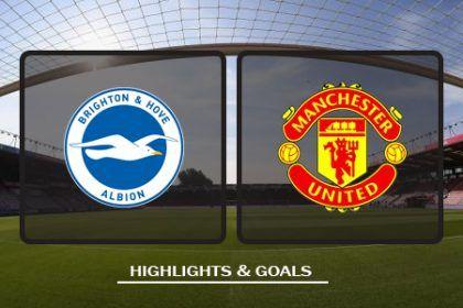 Brighton Hove Albion Vs Manchester United Highlights Premier League Brighton Hove Albion Brighton Manchester United