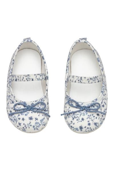 Ballet Flats - White/floral - Kids   H