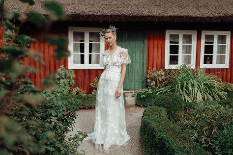 Robe de mariée Constance Fournier I Collection 2019 I Robe Märit I Création unique sur-mesure