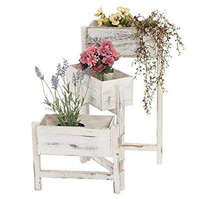 Pflanzregal Standregal Blumenständer Höhe 65cm Shabby