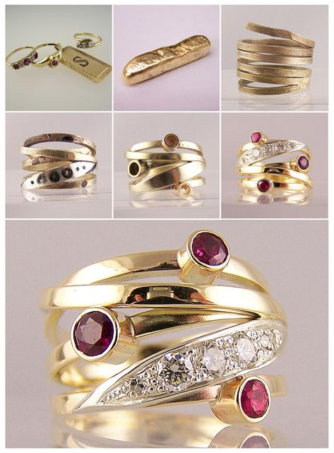 Jewellery remodelling project - ruby, diamond rings & gold dog tag transformed! - Ring Jewellery #jewellery #jewellerydesign #jewelleryonline #jewelleryset #jewelleryshops #remodelingideas #remodelingbeforeandafter