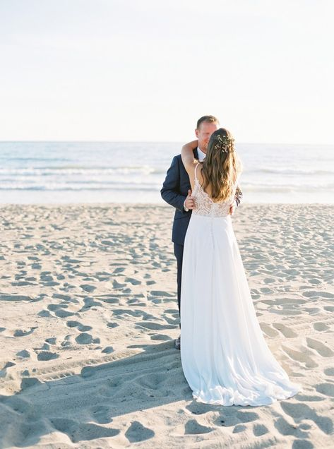 Our #EddyKBride Claire is giving us beach weddng goals in style EK1243! #weddingdress #weddingdresses #weddingoutfit #bride #weddingdressdesigner #bridestyle #weddinggown #ALineWeddingDress #ALineWeddingGown #beachwedding #destinationwedding