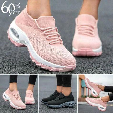 Shop Now>>Plus Size Women's Solid Color Sneakers