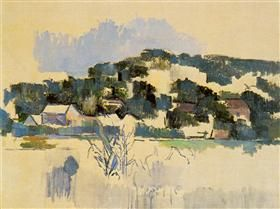 Houses On The Hill Paul Cezanne Paul Cezanne Paul Cezanne