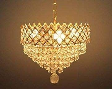 Brightlyts Crystal Chandelier Jhoomar Ceiling Hanging Pen Https Www Amazon In Dp B07vc6tr65 Ref C Wall Lamp Design House Ceiling Lights Chandelier Picture