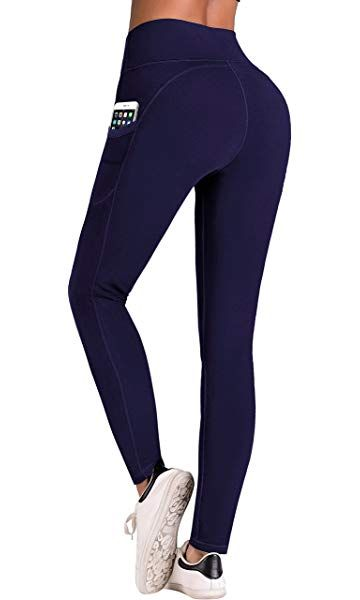 1dc9945cc2e32 IUGA High Waist Yoga Pants with Pockets, Tummy Control, Workout Pants for  Women 4 Way Stretch Yoga Leggings with Pockets