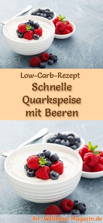 Low Carb Rezept Fur Quark Mit Beeren Kohlenhydratarmes Fruhstuck Gesund Eiweissreich Kalorienreduziert Ohne Getreidemehl In 2020 Food Low Carb Recipes Desserts
