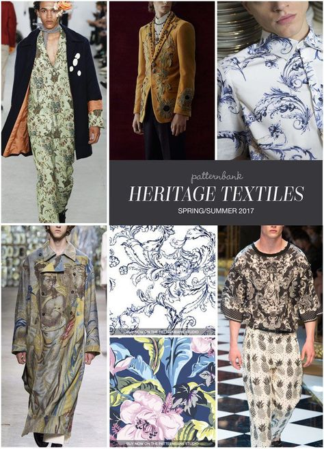 Menswear Spring/Summer 2017 – Key Print and Pattern Highlights - Heritage Textiles