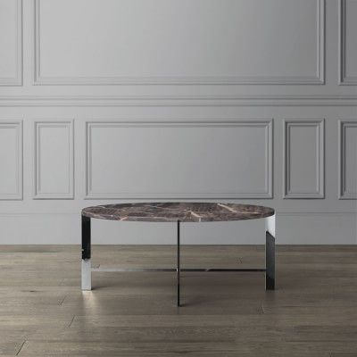 Mercer Coffee Table Round Marble Grey Polished Nickel Round Glass Coffee Table Contemporary Coffee Table Antique Coffee Tables