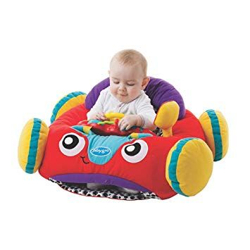 Playgro 0186362 Music and Lights Comfy Car for Baby Infant Toddler Red