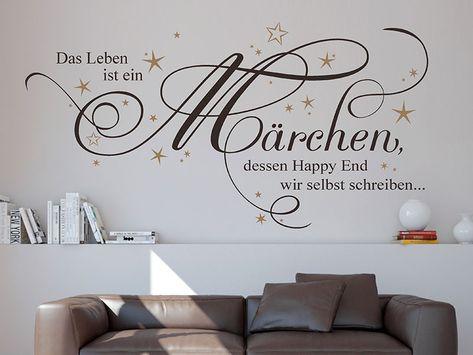 Wandtattoo Wandsticker Sprüche Das Leben ist ein MärchenZitateWohnzimmer
