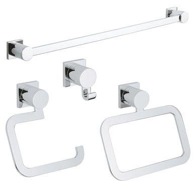 Grohe Allure 4 Piece Bathroom Accessory Kit Chrome In 2021 Bathroom Accessories Grohe Bathroom Hardware