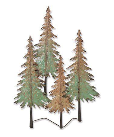 Loving This Green Copper 26 Metal Pine Trees Wall Art On
