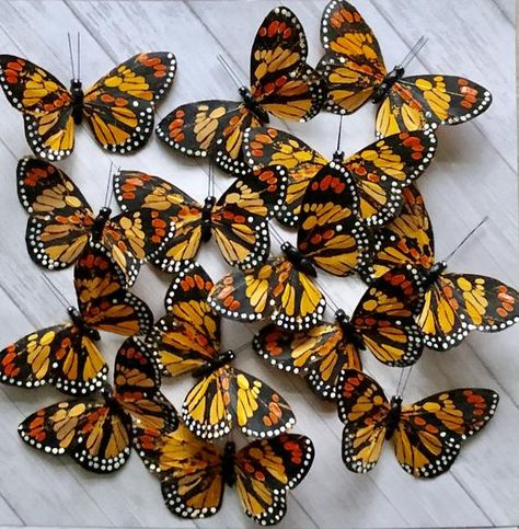Beautiful Monarch Butterflies ~ finally found by Olive~ (12) butterflies included in this listing.