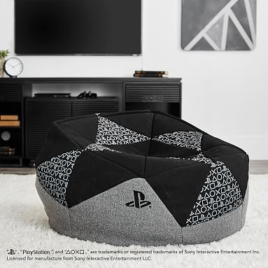 Beanbag Inspired By Playstation 174 Pbteen Playstation Room Game Room Decor Bean Bag Chair