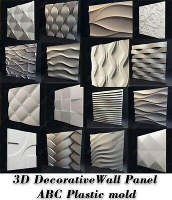 Molds For 3d Tile Panels Abs Plastic Form Mold Plaster Wall Stone Wall Art Decor Ebay Wall Panel Molding Stone Wall Art Plaster Wall Art