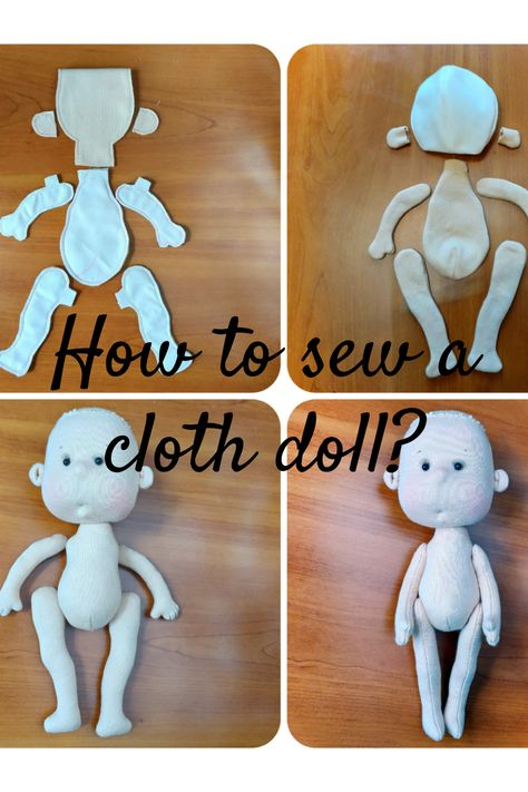 Cloth baby doll pattern, Textile doll sewing guide, Baby doll sewing pattern, PDF dolls patterns