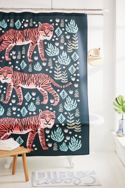 Andrea Lauren For Deny Safari Tiger Shower Curtain