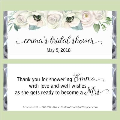 Floral Watercolor Bridal Candy Bar Wrappers Bridal Shower Candy Bar Bridal Shower Candy Wrapper Bridal Shower Candy Favors