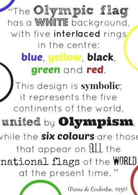 Printable Quote About The Olympic Rings And What Each Color Represents Includes Olympic Ring Activities For Kids In 2020 Flag Crafts Olympic Flag Olympic Ring Colors