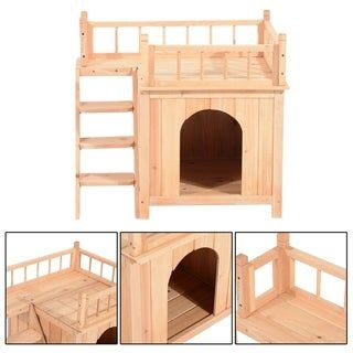 Overstock Com Online Shopping Bedding Furniture Electronics Jewelry Clothing More In 2021 Wooden Cat House Wood Dog House Cat House