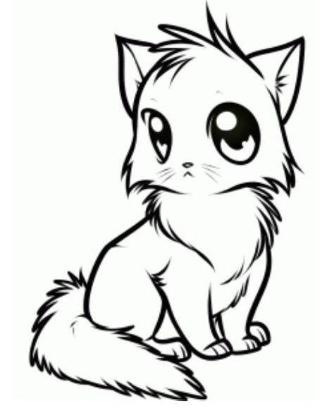 image result for cutest manga art of kitten  malvorlagen