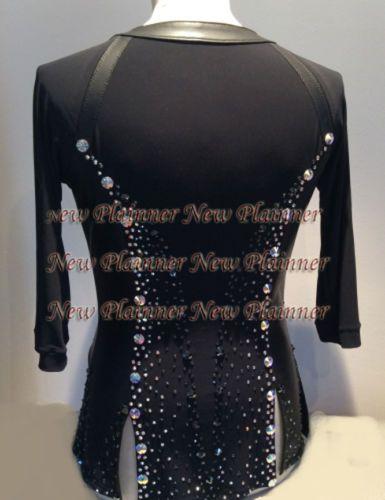 d10e52427535 M358 XL size Ballroom Men Latin Salsa Dance Shirt Black Sleeve henley