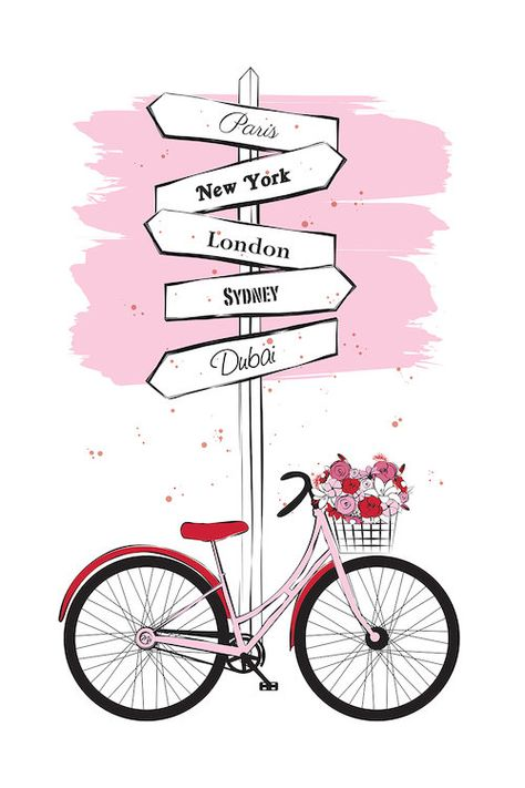Bike Travels by Martina Pavlova is printed with premium inks for brilliant color and then hand-stretched over museum quality stretcher bars. 60-Day Money Back Guarantee AND Free Return Shipping.