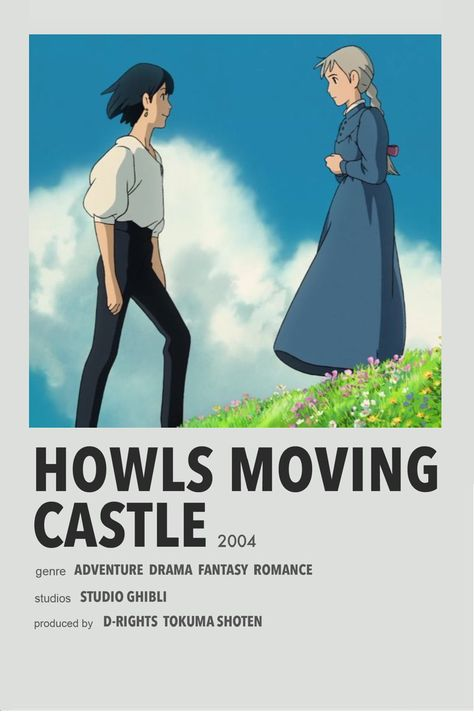 minimalist poster - Howl's moving castle