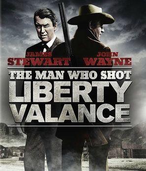 The Man Who Shot Liberty Valance Movie Advert Print Stewart /& John Wayne Poster