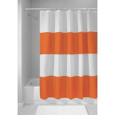 Breakwater Bay Mayra Single Shower Curtain Color Orange Fabric