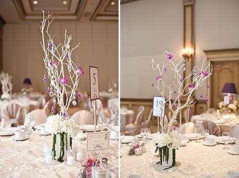 Modern Elegant Champagne and Purple Wedding | Purple wedding ...