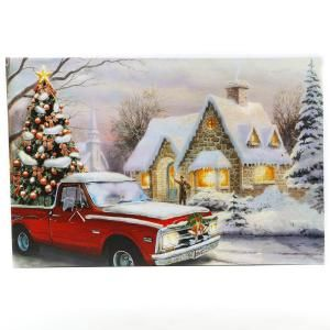 Unbranded Winter Wonderland Home For The Holidays Truck Canvas Print Wall Art With Led Lights Wha652 The Home Depot Canvas Print Wall Canvas Wall Art Wall Art Prints