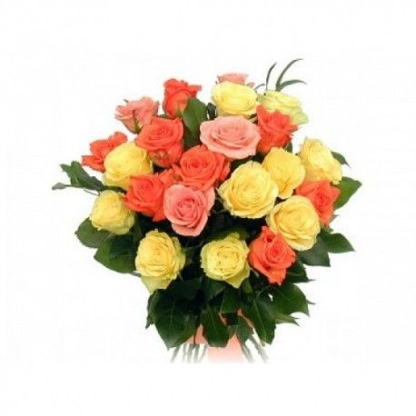 This Is The Mix Color Roses Bunch And We Deliver This Bouquet Online At Affordable Price Online Flower Delivery Flower Delivery Buy Flowers Online