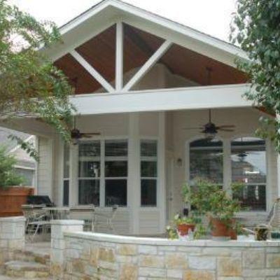 Classic And Bright Covered Porch In Austin Design Ideas Archadeck Backyard Covered Patios Pergola Pergola Patio