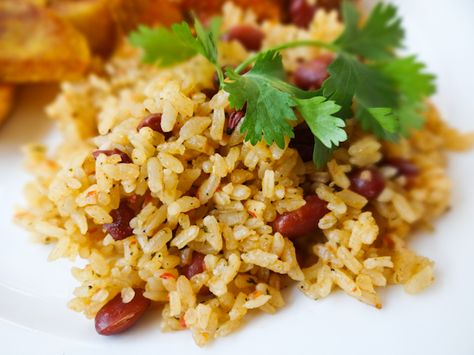 Puerto Rican Style Rice and Beans