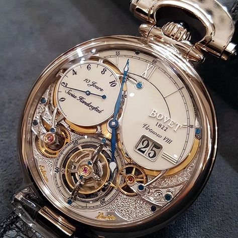 REPOST!!! New 10-Day Flying Tourbillon from Bovet, featuring a double face tourbillon, with impressive engraved patterns on the movement plate. #bovet #bovet1822 #bovetwatch #tourbillon #bigdate #engravings #hautehorlogerie #hautehorology #luxurywatch #