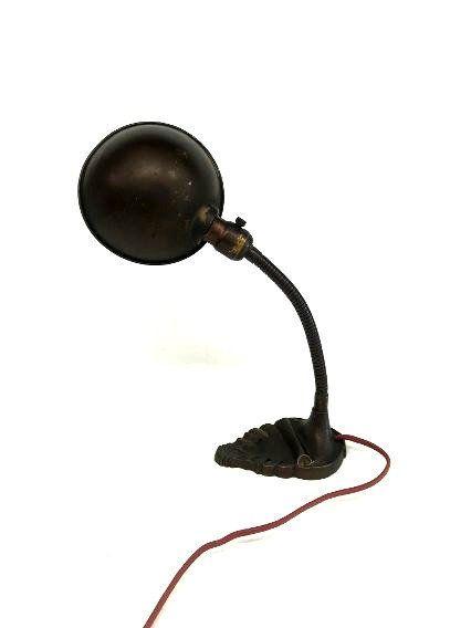 Vintage Art Deco Gooseneck Lamp Industrial Gooseneck Lamp Etsy Art Deco Lamps Vintage Art Deco Lamp