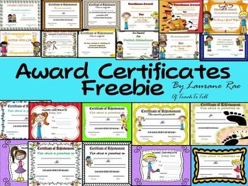101 best certificates and awards images on pinterest award reward your students with this pack of 25 award certificates featuring cute clip art meaningful yelopaper Choice Image