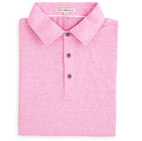 Peter Millar | Linen Cotton Polo in Retro Pink