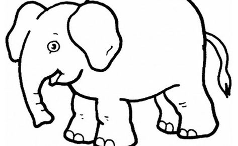 Coloring Pages For Kids Elephants In 2020 Elephant Coloring Page