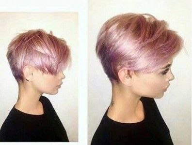 Tumblr Style Pale Pink Short Hair Colors Pink Short Hair Pixie Haircut For Thick Hair Short Hair Styles