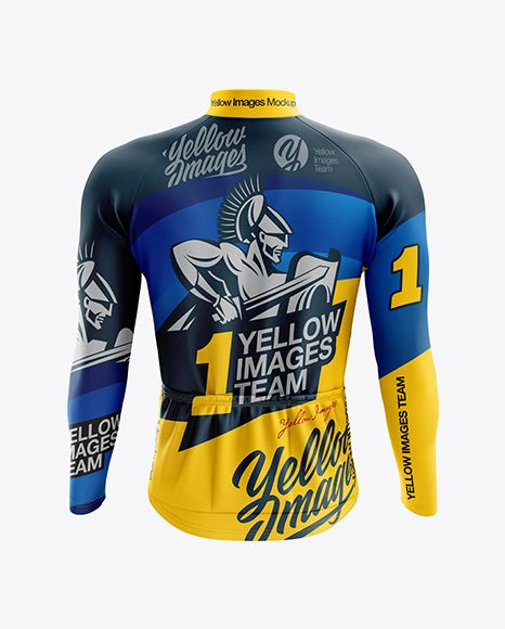 Download Men S Cycling Thermal Jersey Ls Mockup Back View In Apparel Mockups On Yellow Images Object Mockups Clothing Mockup Design Mockup Free Mockup Free Psd