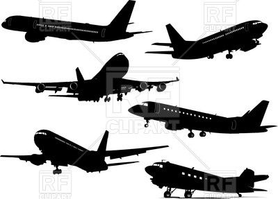 Passenger Airplane Stock Vector Illustration And Royalty Free Passenger  Airplane Clipart