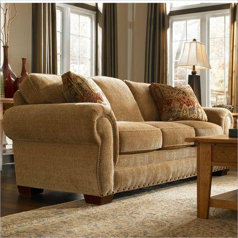 Broyhill Cambridge Three Seat Sofa With Attic Heirlooms Wood Stain 5054 3q1 Broyhill Furniture Three Seat Sofa Furniture