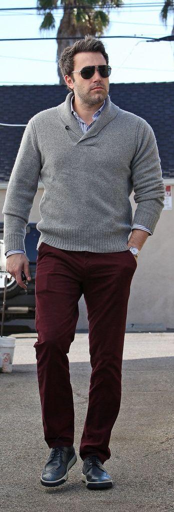Maroon color dresses pants for men