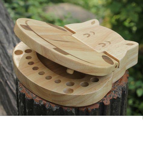 caja de dientes de madera ni/ña Caja de dientes de leche para beb/és cajas de almacenamiento de dientes // cord/ón umbilical // lanugo para ni/ños Juegos de regalo Cajas de memoria para ni/ño y ni/ña
