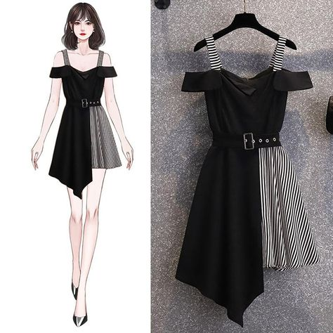 Off Shoulder Irregular Mini Dress