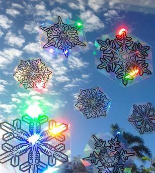 Suncatcher The Snowflake Series In 2021 Rainbow Maker Snowflake Decorations Creative Diy Gifts