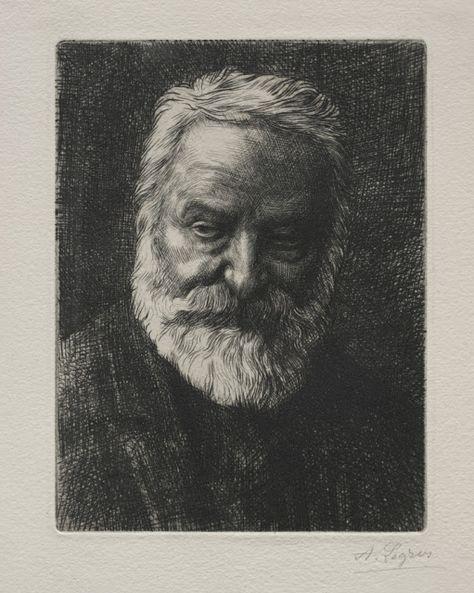Alphonse Legros (1837-1911), Portrait de Victor Hugo. | Victor hugo, Art et Peintures françaises